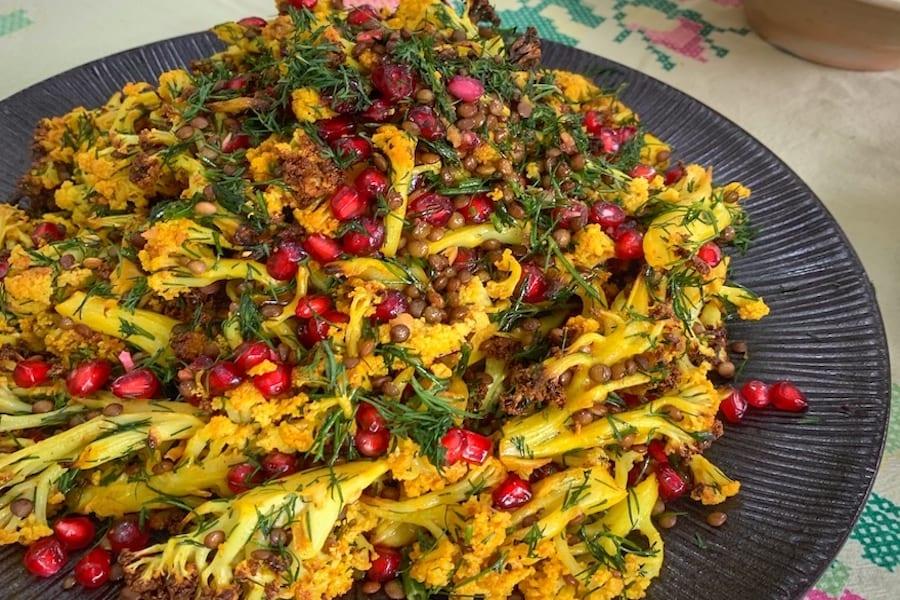 Olive Leaf Cauliflower & Lentil Salad