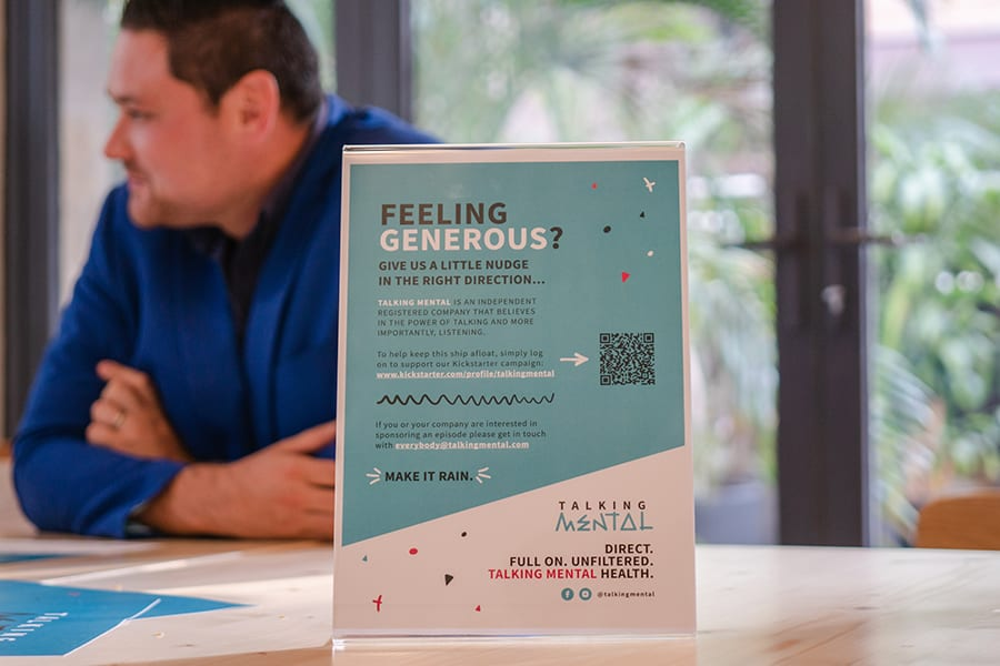 Talking Mental Aaron Stadlin-Robbie poster