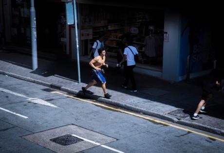 plogging in Hong Kong jogging picking up litter