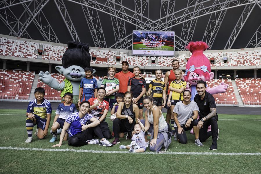 HSBC Singapore Rugby Sevens 2019 team