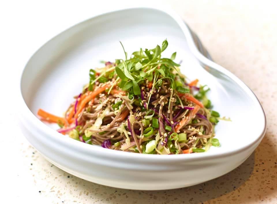 salads in hong kong soba noodles