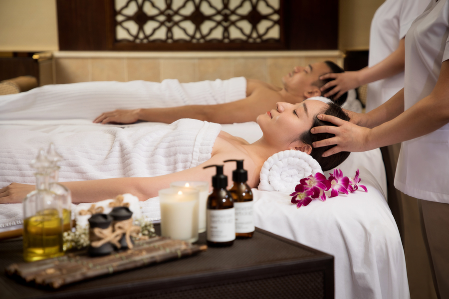 elemental herbology shine spa for sheraton couples room