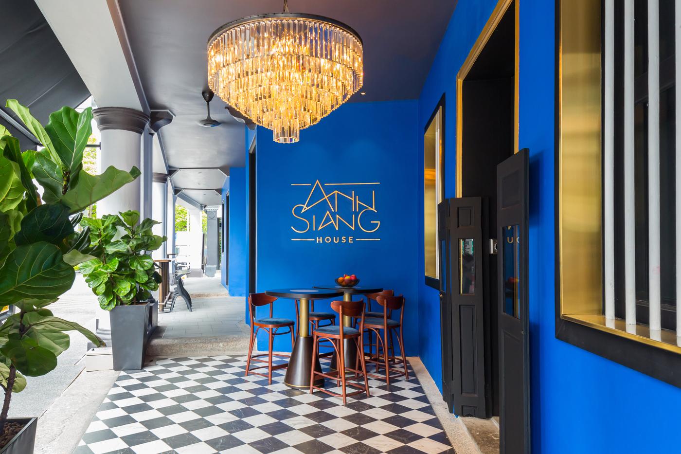 Ann Siang House blue wall
