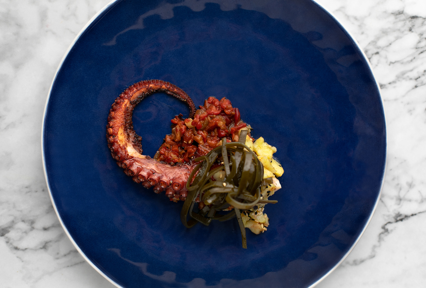 new restaurants in Hong Kong 2019 Cornerstone Octopus dish