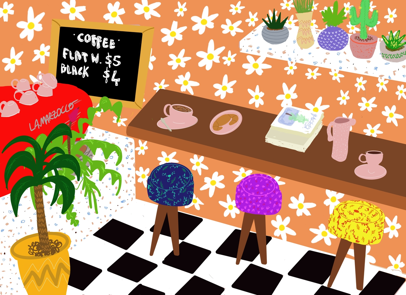 new cafes in Hong Kong 2019 August Drawmajesty Art illustration