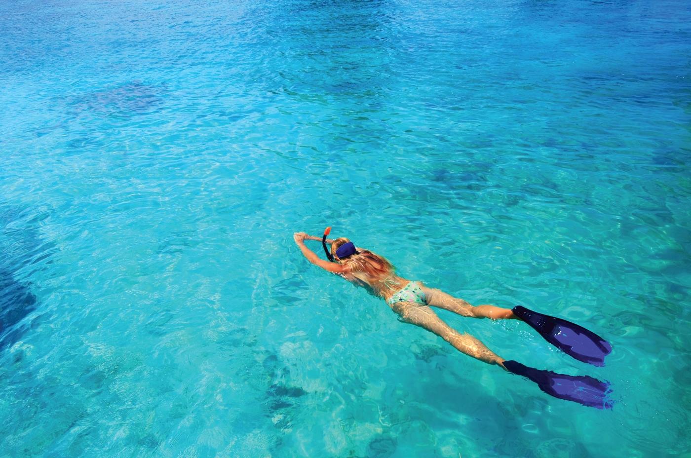 Wa Ale resort snorkeller