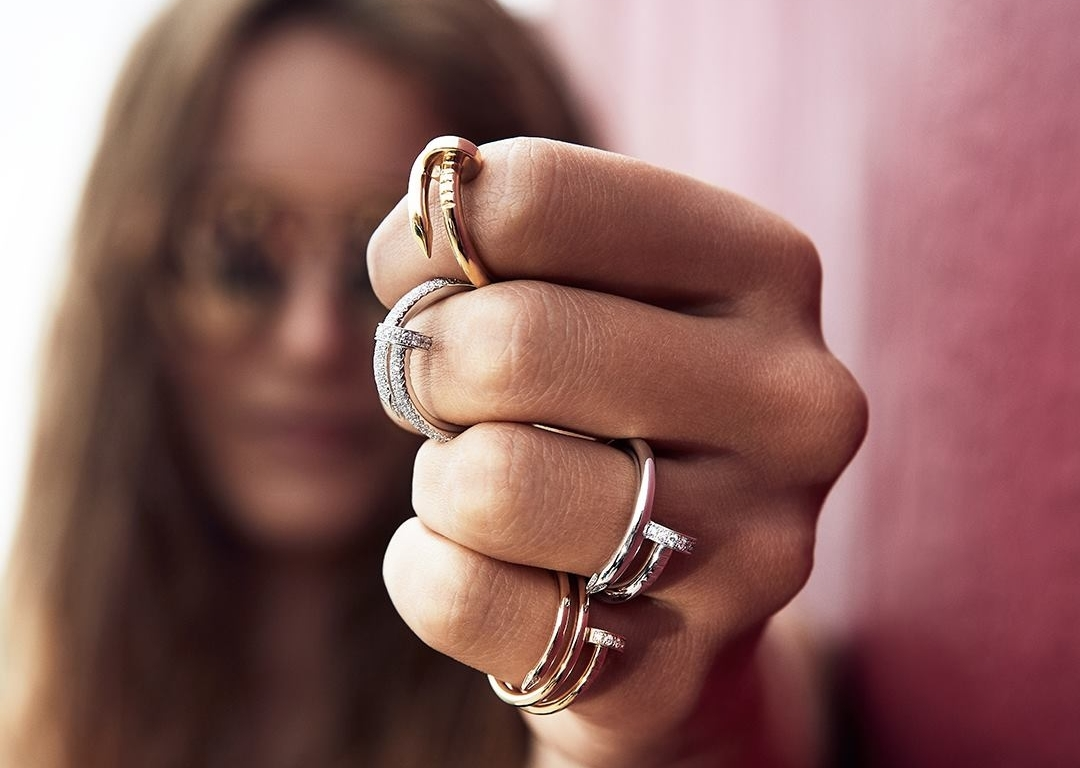 Cartier rings on a hand