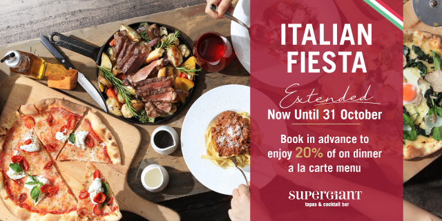 Italian Fiesta: Brand-new menu serving refreshing European dining