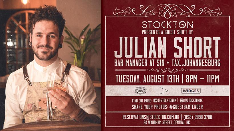 Guest Bartending Shift by Julian Short (Sin + Tax, Johannesburg) at Stockton