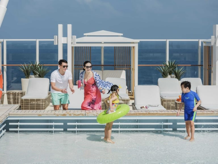 Cruise the seas with World Dream and enjoy a luxury family vacation at The Palace