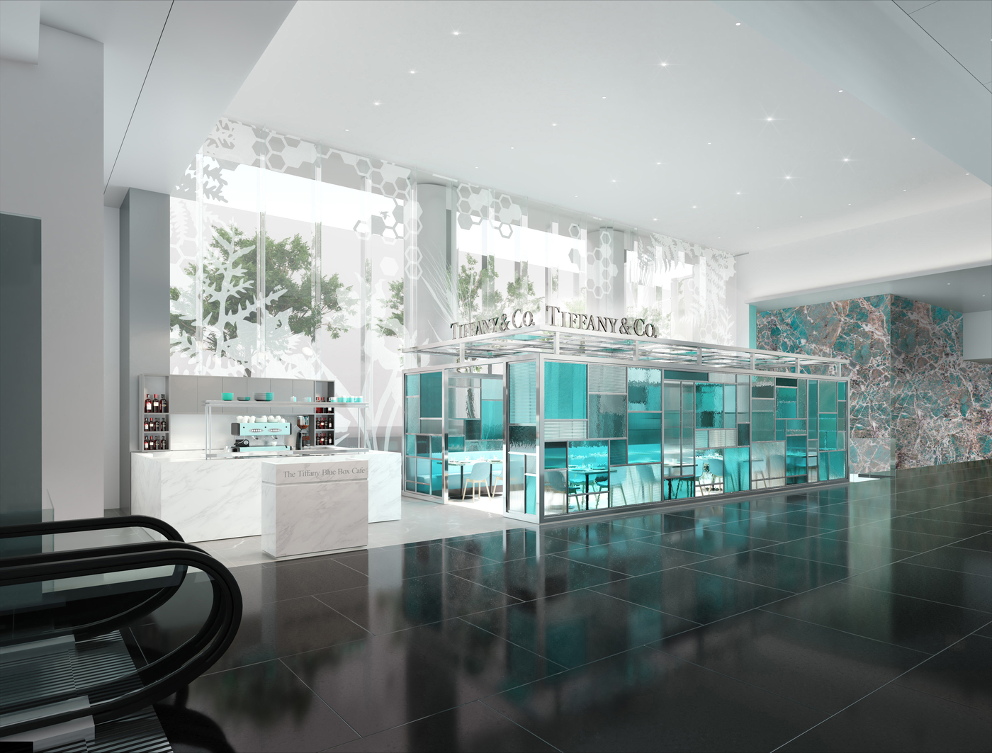 new cafes in Hong kong Tiffany Blue Box Cafe