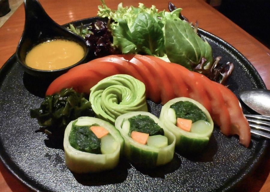 The new all-you-can eat vegetarian menu at Kyoto Joe is giving us life