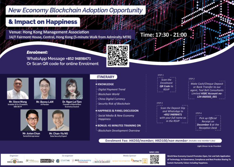 World New Economy Blockchain Adoption Opportunity & Impact on Happiness