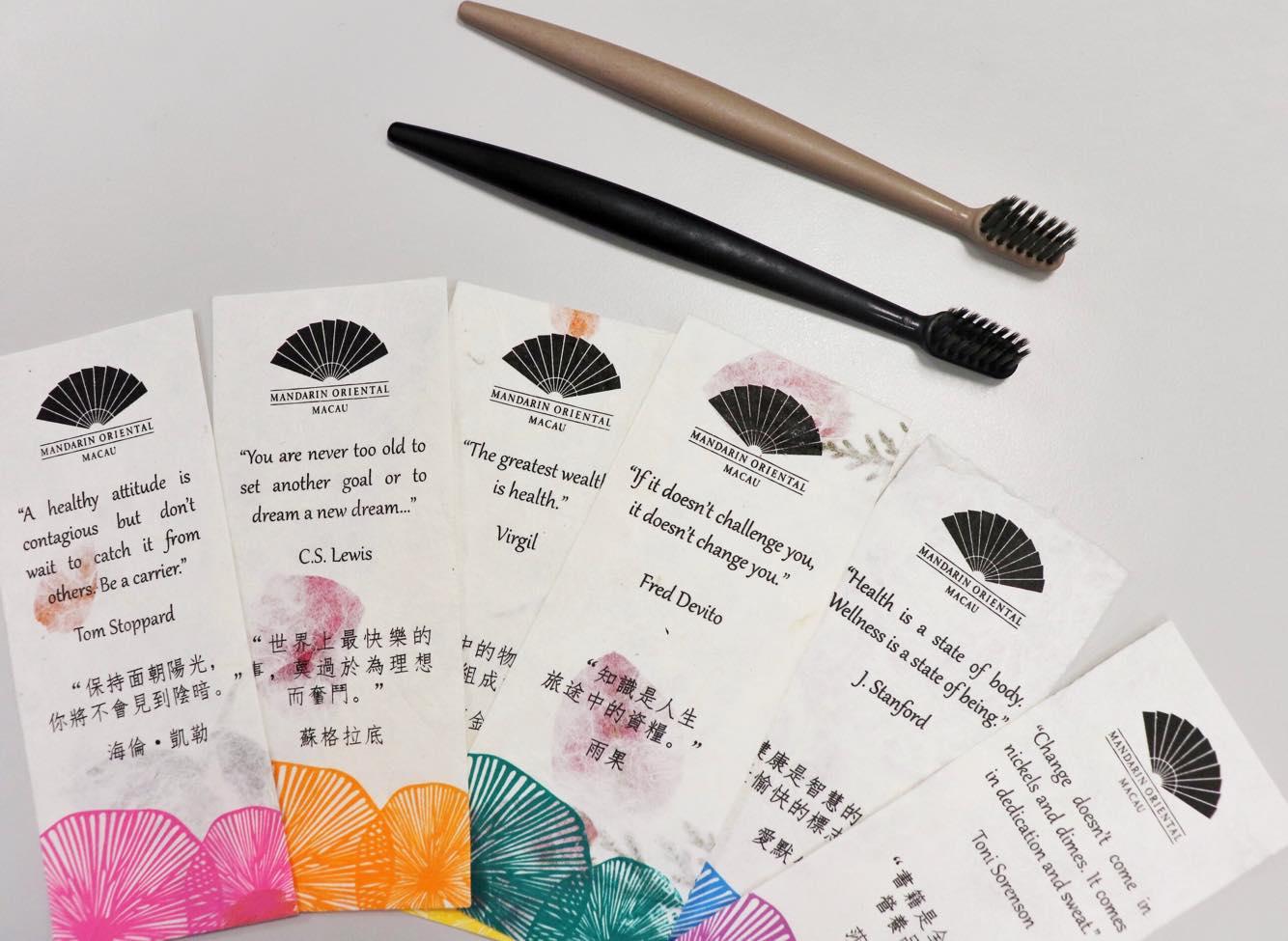 Mandarin Oriental Macau toothbrushes