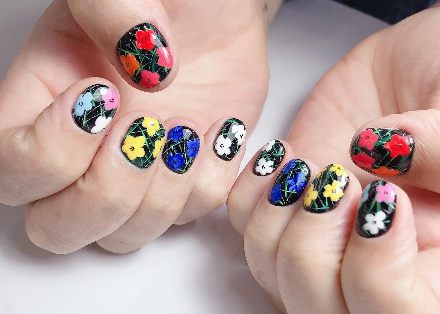 We tried a Russian manicure inspired by Andy Warhol at Ooh La La Nails in Wan Chai