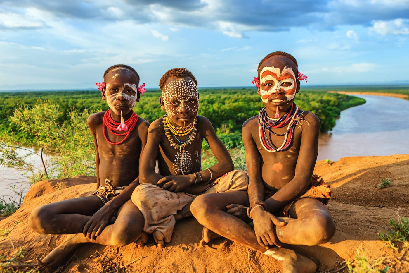 boys from Karo Tribe | Unique places to visit in Africa