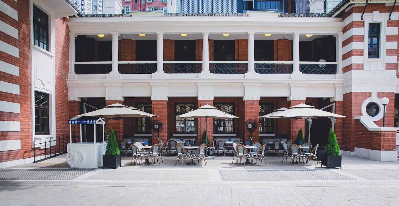 Cafe Claudel exterior   outdoor restaurants in Hong Kong alfresco dining