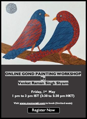 Online Gond Painting Workshop With Venkat Shyam