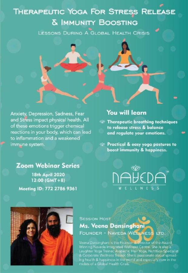 ZOOM Therapeutic Yoga for Stress Release & Immunity Boosting