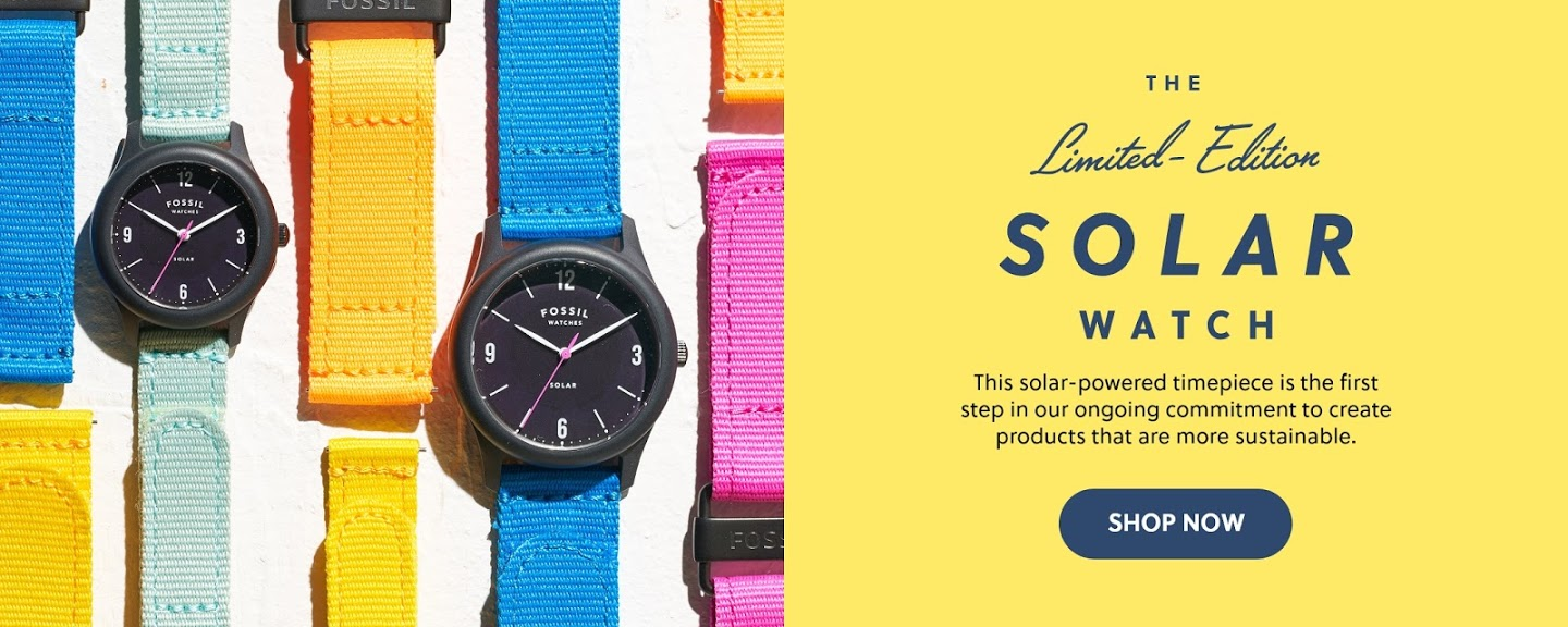 Fossil Introduces Limited Edition Solar Watch Box Set: Make Time for Sustainability