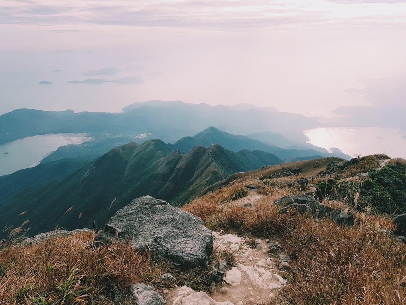 an image of sharp peak hiking trail