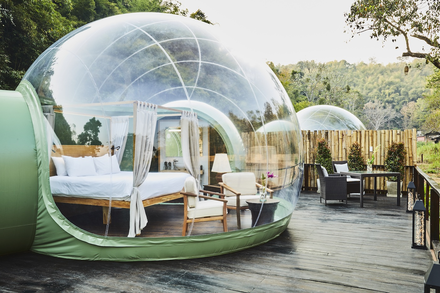 Gour Seasons tented camp jungle bubble