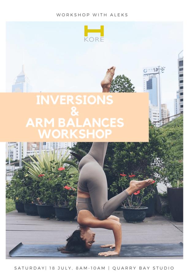 Inversions and Arm Balances Workshop at H-Kore