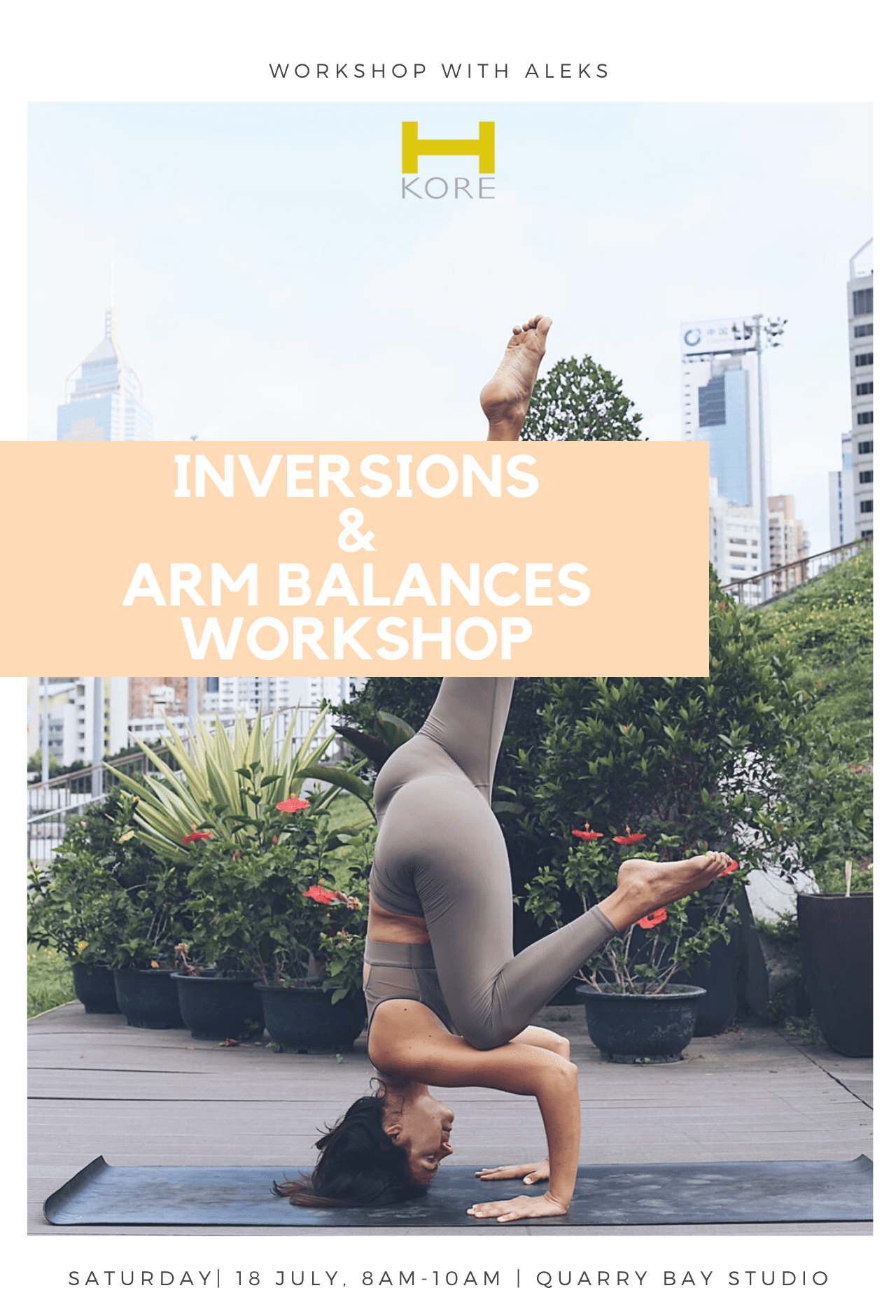 Inversions and Arm Balances Workshop at H-Kore