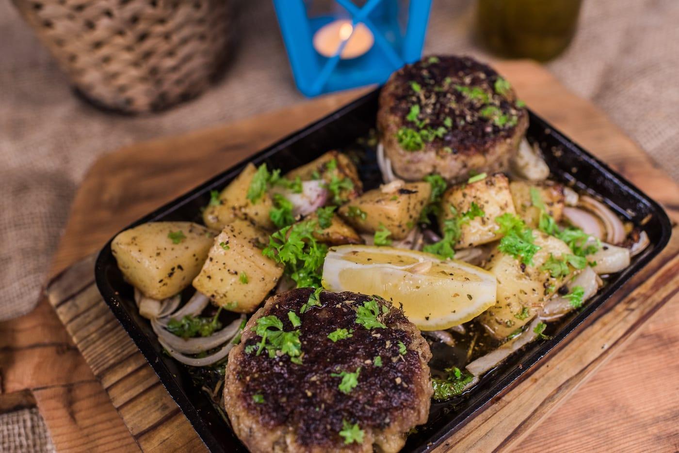 beef and mushroom steak